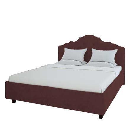 Купить Кровать Palace 200х200 Велюр Коричневый
