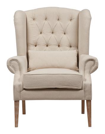 Купить Кресло Wing Back Armchair Белый Лен