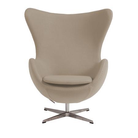 Купить Кресло Egg Chair Бежевое 100% Шерсть