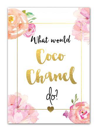Купить Постер Coco Chanel А4