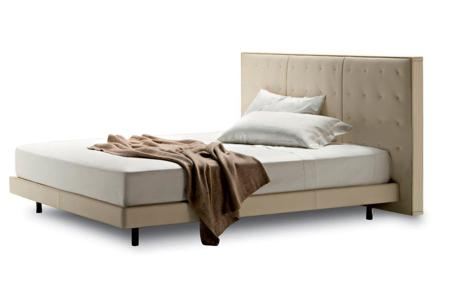Купить Кровать Knoff 180х200 Молочная Кожа Класса Премиум