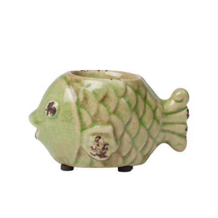Купить Подсвечник Рыбка Зелёный