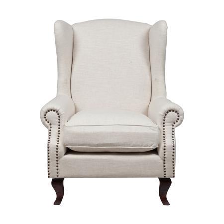 Купить Кресло Collins Wingback Chair Белый Лен