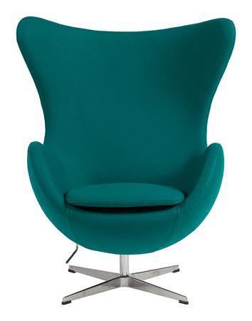 Купить Кресло Egg Chair Изумрудное 100% Кашемир