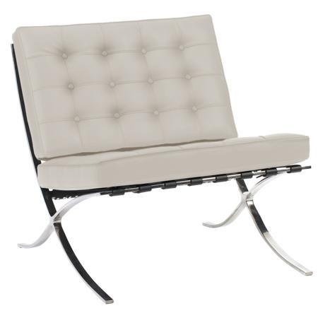 Купить Кресло Barcelona Chair Молочная Экокожа