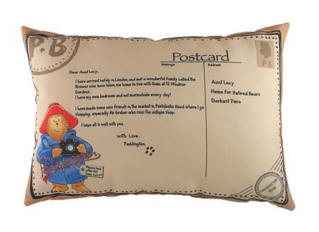 Купить Подушка с картинкой Paddington Postcard
