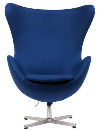 Купить Кресло Egg Chair Синее 100% Шерсть