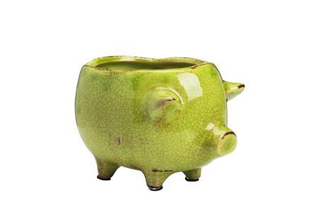Купить Цветочный горшок Pig Planter Зеленый