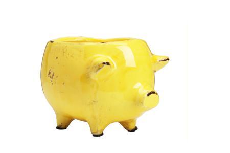 Купить Цветочный горшок Pig Planter Желтый