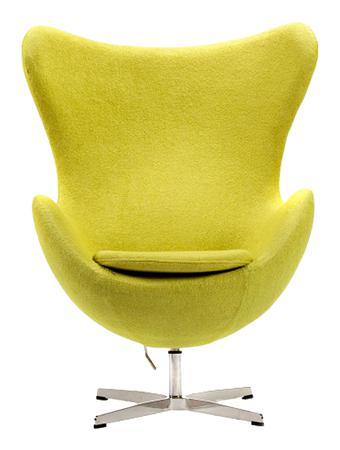 Купить Кресло Egg Chair Оливковое 100% Шерсть