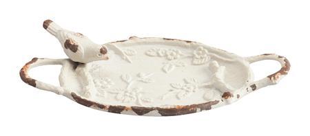 Купить Декоративное блюдо Pewter Dish Молочное
