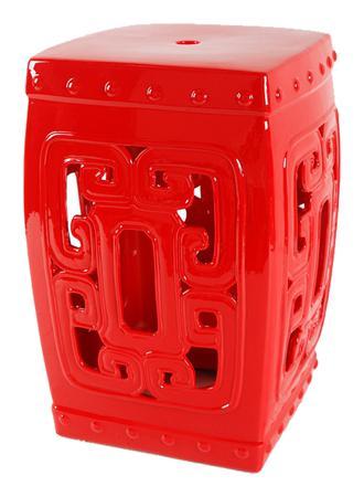 Купить Керамический столик-табурет Oriental Stool Red