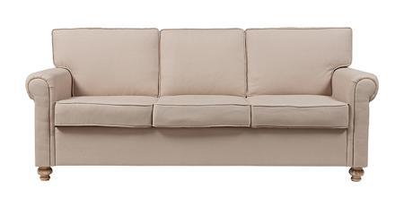 Купить Диван The Pettite Lancaster Upholstered Sofa Кремовый Лен