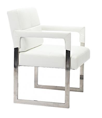 Купить Кресло Aster Chair Белая Кожа Класса Премиум