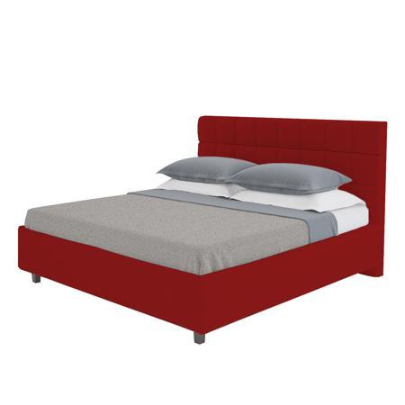 Купить Кровать Wales 160х200 Велюр Красный