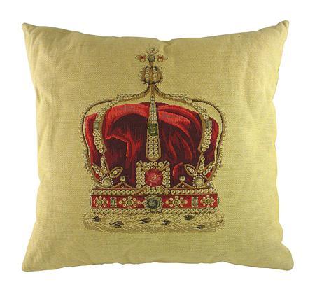 Купить Подушка с картинкой короны Queen Crown Cream