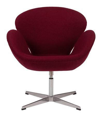 Купить Кресло Swan Chair Бордовая Шерсть