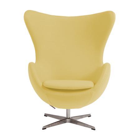 Купить Кресло Egg Chair Жёлтое 100% Шерсть