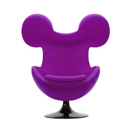 Купить Кресло Egg Mickey Фиолетовое 100% Шерсть