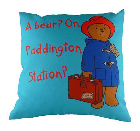 Купить Подушка с принтом Paddington Bear Blue