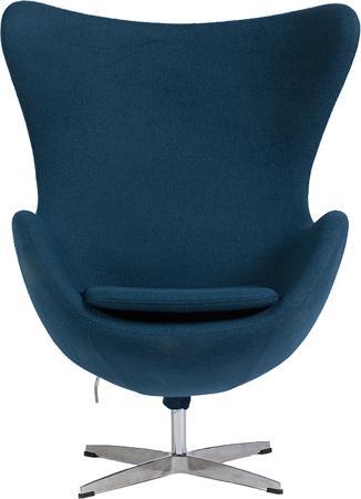 Купить Кресло Egg Chair Сине-зелёное 100% Кашемир