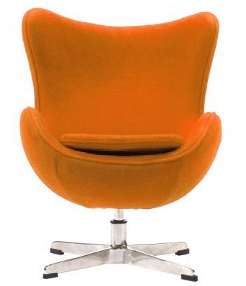 Купить Детское кресло Egg Chair Оранжевое 100% Шерсть
