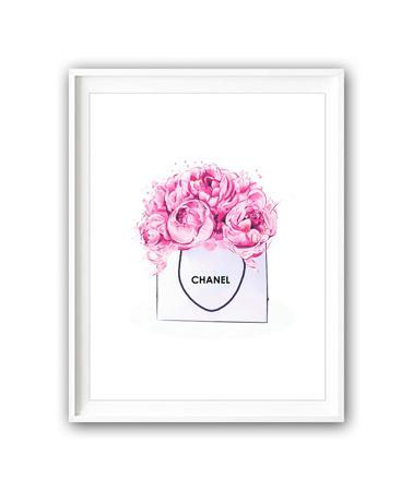 Купить Постер Chanel art А4