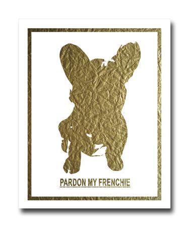 Купить Постер French Dog на белом фоне A4