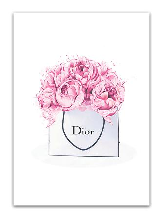 Купить Постер Dior peonies А3