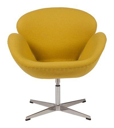 Купить Кресло Swan Chair Желтая Шерсть