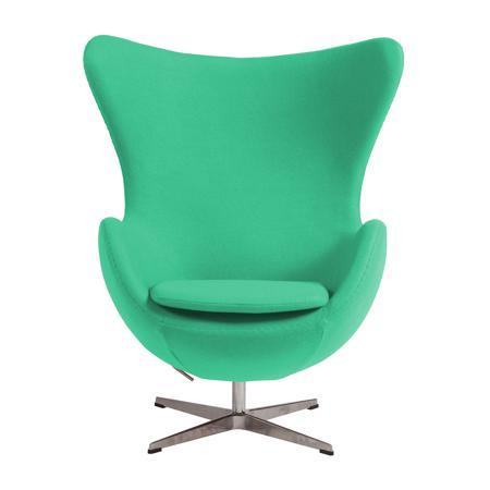 Купить Кресло Egg Chair Зелёное 100% Шерсть