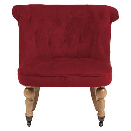 Купить Кресло Amelie French Country Chair Красный Велюр