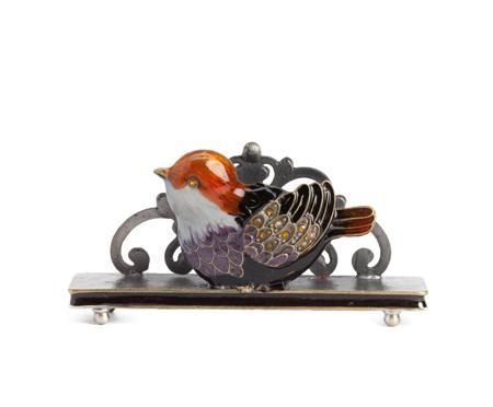 Купить Держатель для визиток Little Bird Оранжевый