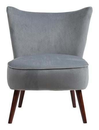 Купить Кресло Vermont Chair Серо-Синий Велюр