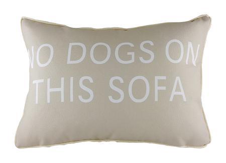 Купить Подушка с надписью No Dogs on This Sofa