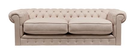 Купить Диван The Pettite Kensington Upholstered Sofa Кремовый Лен