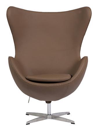 Купить Кресло Egg Chair Коричневое Кожа Класса Премиум