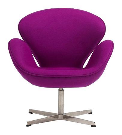 Купить Кресло Swan Chair Лиловый Кашемир
