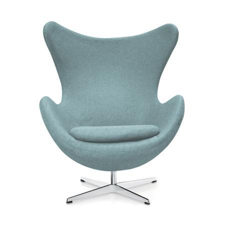 Купить Кресло Egg Chair Светло-голубое 100% Шерсть