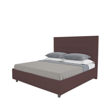 Купить Кровать Royal Black 140х200 Велюр Коричневый