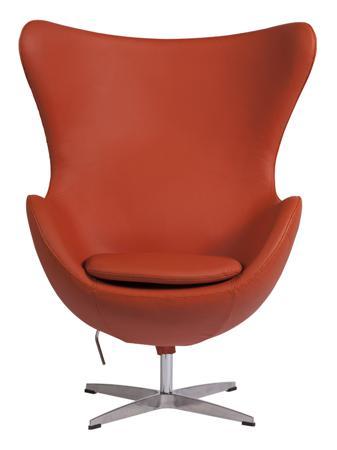 Купить Кресло Egg Chair Терракотовое Кожа Класса Премиум