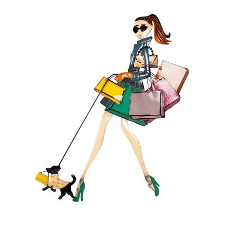 Купить Декоративное настенное панно Fashion Girl