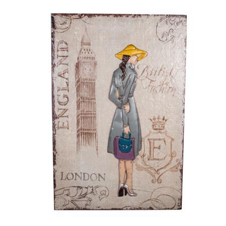 Купить Декоративное настенное панно London Girl