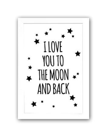 Купить Постер To the white moon and back А4
