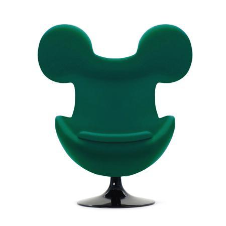 Купить Кресло Egg Mickey Зеленое 100% Шерсть