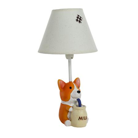 Купить Детская настольная лампа Собачка с молоком