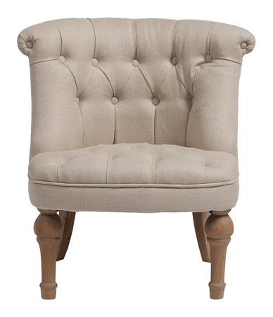 Купить Кресло Sophie Tufted Slipper Chair Молочный Лён