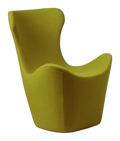 Купить Кресло Papilio Lounge Chair Оливковое Кашемир