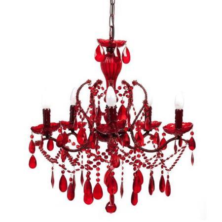 Купить Люстра 19th C. Rococo Iron & Smoke Crystal Round (красная)