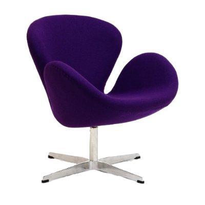 Купить Кресло Swan Chair Фиолетовая Шерсть